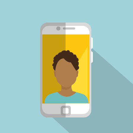 smartphone with man character vector illustration design Illustration