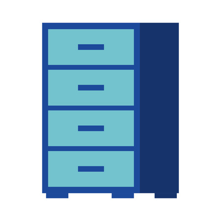 office cabinet furniture organizer icon vector illustration