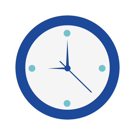 clock time hours timer date vector illustration