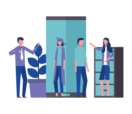business man and woman office vector illustration Ilustração