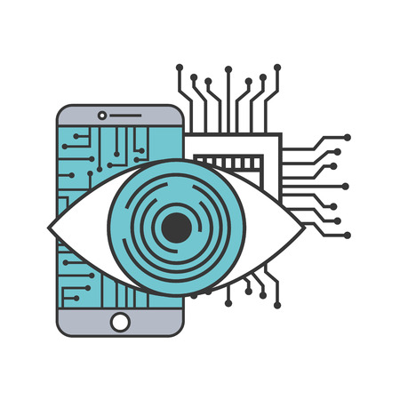 smartphone visual circuit motherboard technology vector illustration