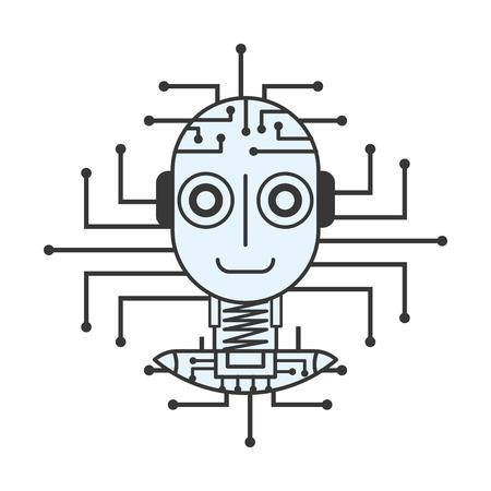 robot artificial intelligence innovation technology vector illustration