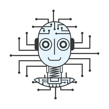 robot artificial intelligence innovation technology vector illustration