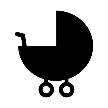 bébé landau accessoire pictogramme icône illustration vectorielle
