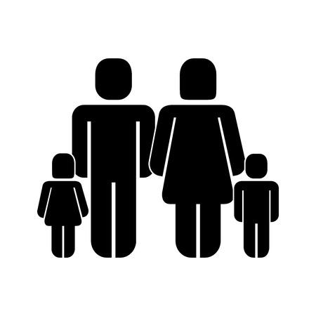 parents and kids family pictogram vector illustration Illusztráció
