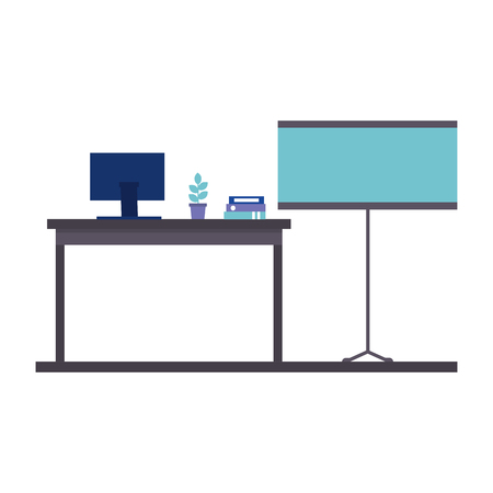 office work place isolated icon vector illustration design