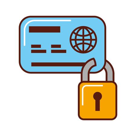 business bank credit card security vector illustration Illustration