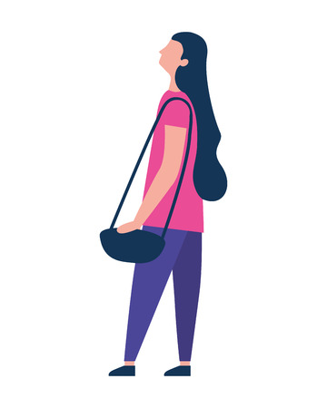 woman character female standing figure vector illustration Illustration