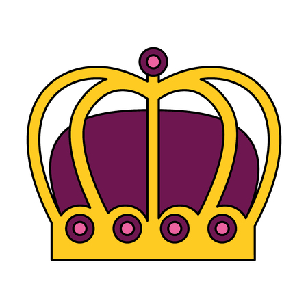 crown jewelry royal monarchy gems vector illustration