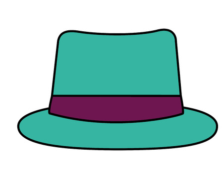 green hat classic old fashion accessory vector illustration