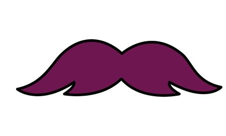 hipster mustache fashion retro icon vector illustration