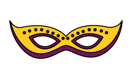 carnival mask mystery masquerade festival vector illustration Illustration
