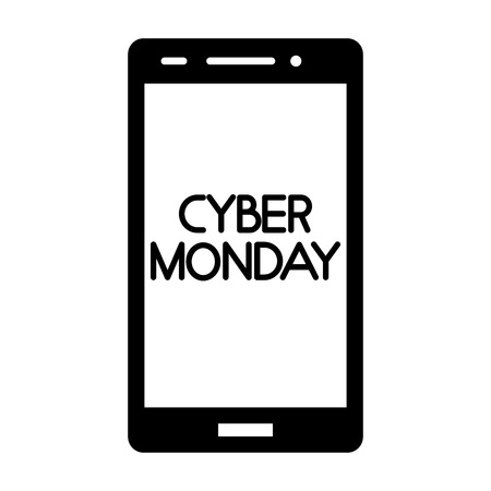 smartphone technology device cyber monday vector illustration Illustration