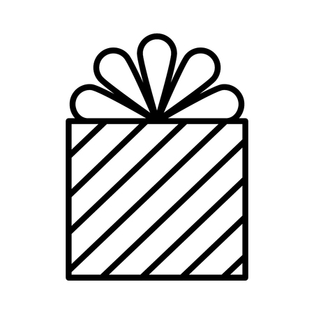 wrapper gift box surprise with stripes vector illustration