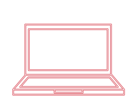 laptop computer device gadget technology vector illustration neon