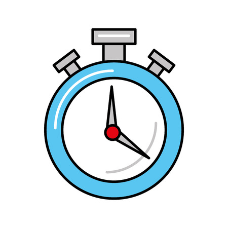 round stopwatch timer hour countdown vector illustration