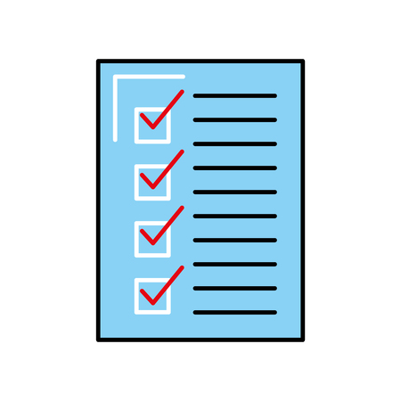 check list approved document business vector illustration