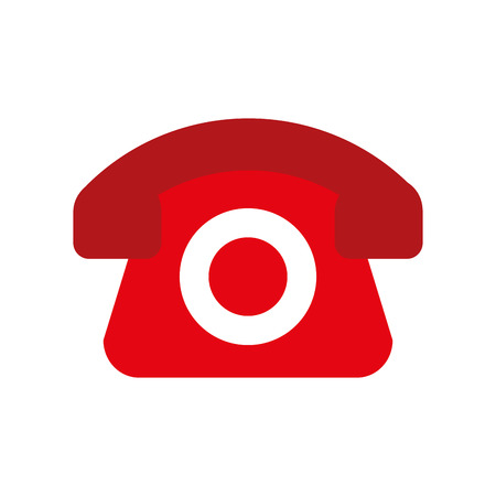 red telephone helpline online shopping logistic vector illustration