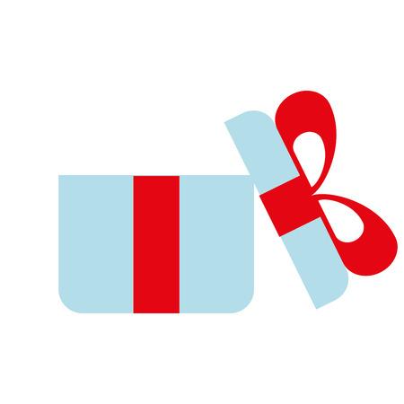 online shopping open gift box concept vector illustration Illustration