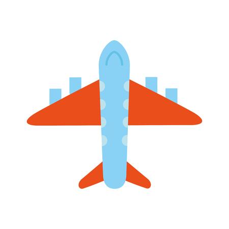 Ilustración de vector de industria de viajes comerciales de transporte de avión Ilustración de vector