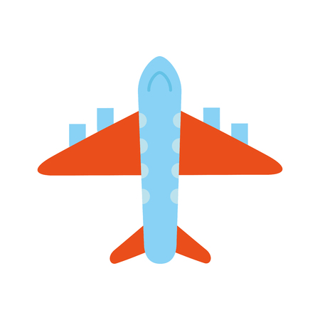 airplane transport commercial travel industry vector illustration