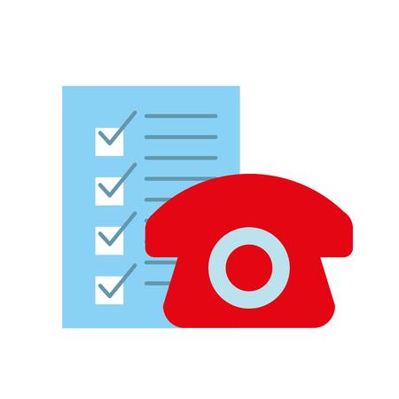 online shopping logistic telephone check list vector illustration