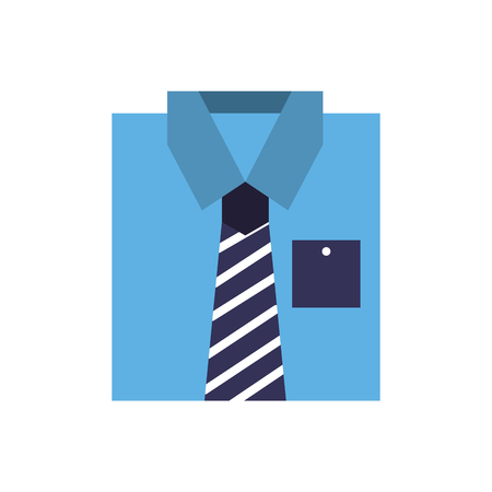 blue shirt clothes fashion folded vector illustration