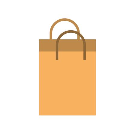 paper shopping bag commerce market vector illustration