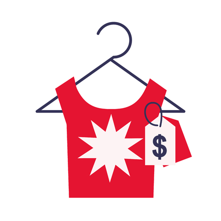 female fashion price online shopping vector illustration Illustration