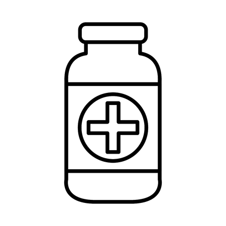 bottle drugs isolated icon vector illustration design Фото со стока - 109721835