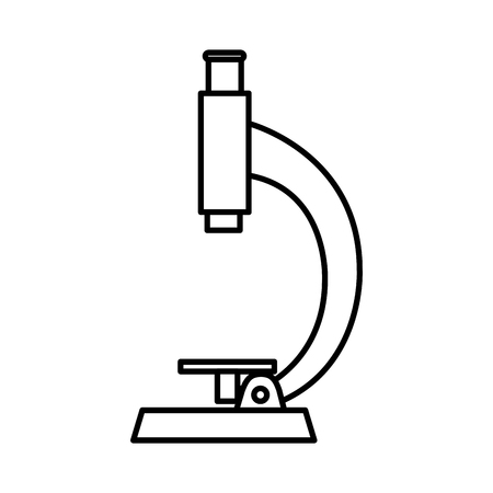 microscope lab isolated icon vector illustration design Illustration