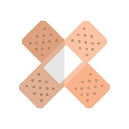 Curar banda icono aislado diseño ilustración vectorial
