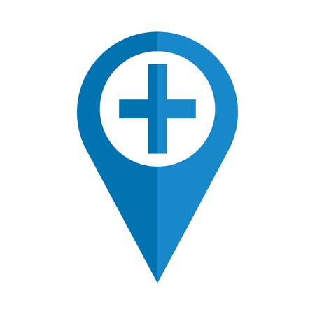 pin location with medical cross vector illustration design Zdjęcie Seryjne - 109721870