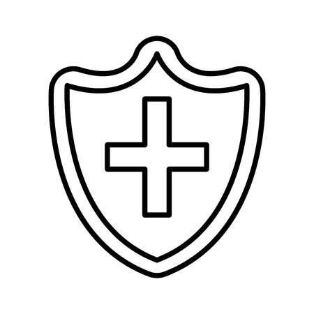 shield with cross icon vector illustration design 일러스트