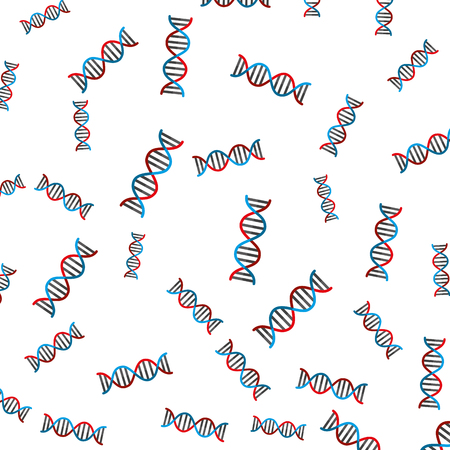 dna molecule pattern background vector illustration design