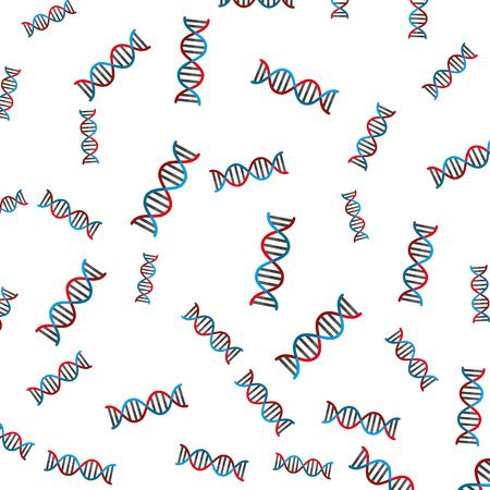 dna molecule pattern background vector illustration design