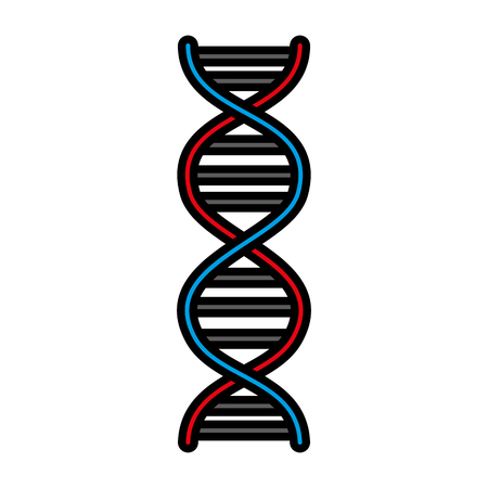 Molécula de ADN aislado icono diseño ilustración vectorial