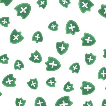 shield with cross pattern background vector illustration design Ilustração