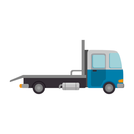 truck vehicle isolated icon vector illustration design