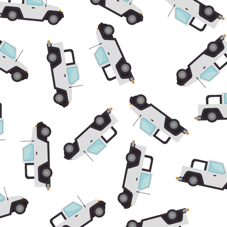 car 4x4 pattern background vector illustration design Ilustração