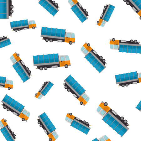 truck vehicle pattern background vector illustration design