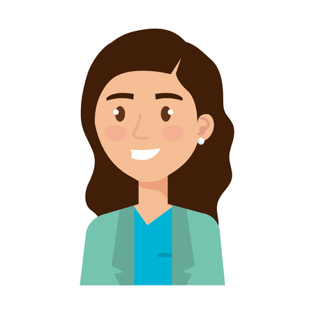 female nurse avatar character vector illustration design Illustration