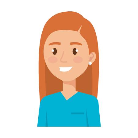 female surgeon avatar character vector illustration design