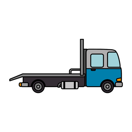 truck vehicle isolated icon vector illustration design