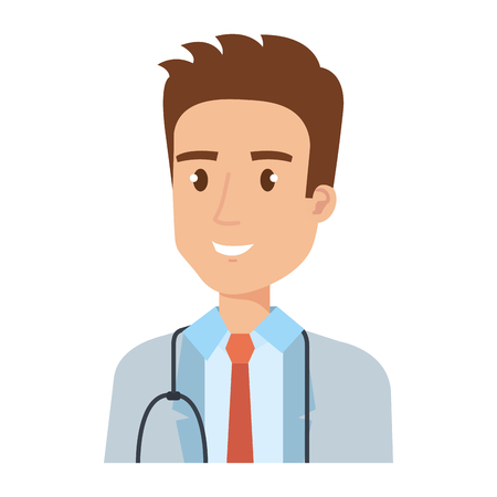 medical doctor avatar character vector illustration design
