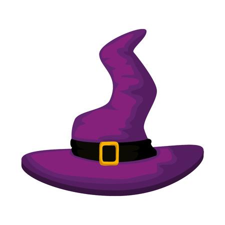 witch hat halloween icon vector illustration design Иллюстрация