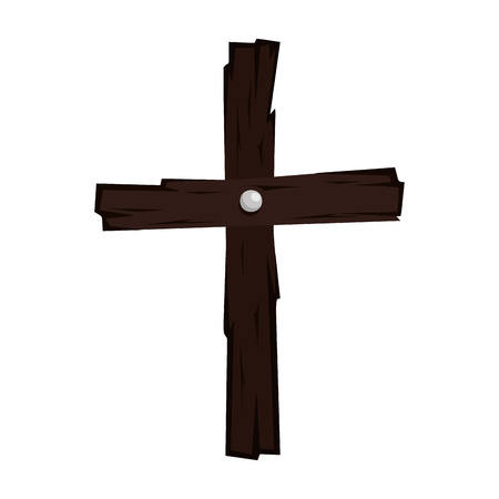 halloween wooden cross icon vector illustration design