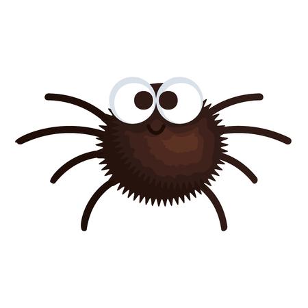 happy halloween spider icon vector illustration design