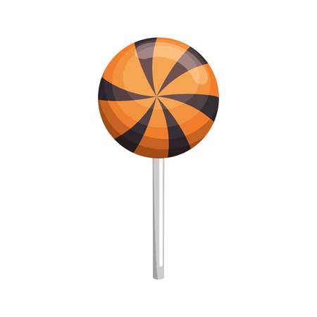 halloween sweet lollipop icon vector illustration design Çizim