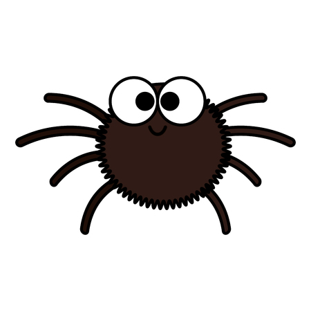 happy halloween spider icon vector illustration design Stok Fotoğraf - 109686691